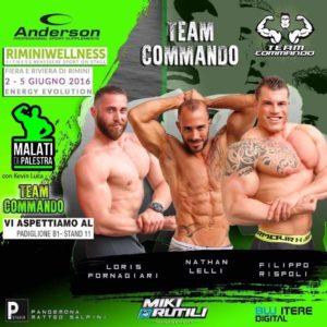 Team Commando presente alla fiera del fitness a Rimini dal 2 al 5 giugno.